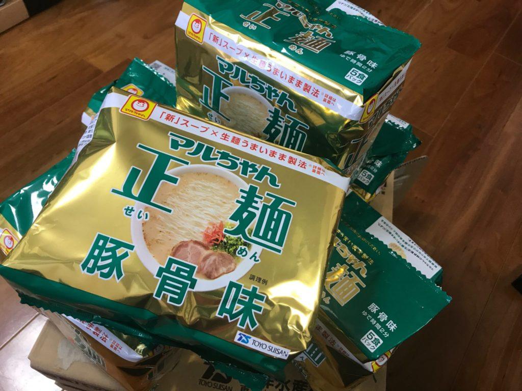 マルちゃん正麺の豚骨インスタントラーメン