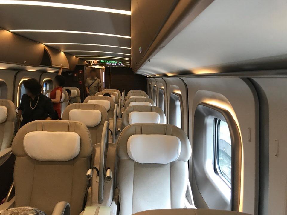 新幹線グランクラス席の車両