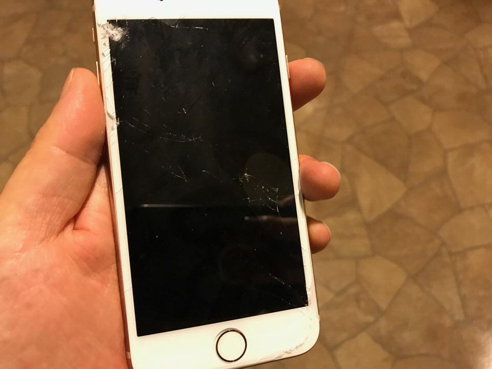 落としたiPhoneの液晶をチェックしてみた