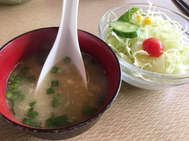 日吉_新川崎ナン食べ放題インドカレーサガルマータ サラダ&スープ