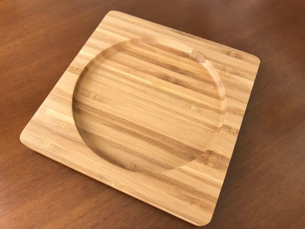 小さい方のニトスキの竹製鍋敷き