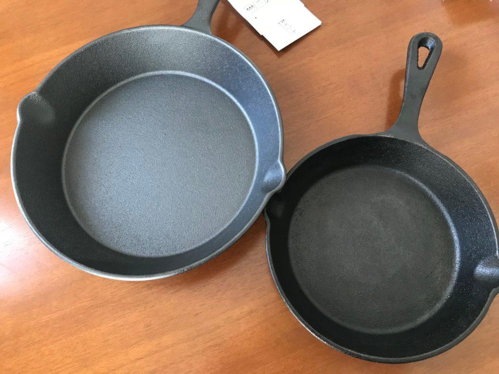 ニトスキ2種類のサイズ比較