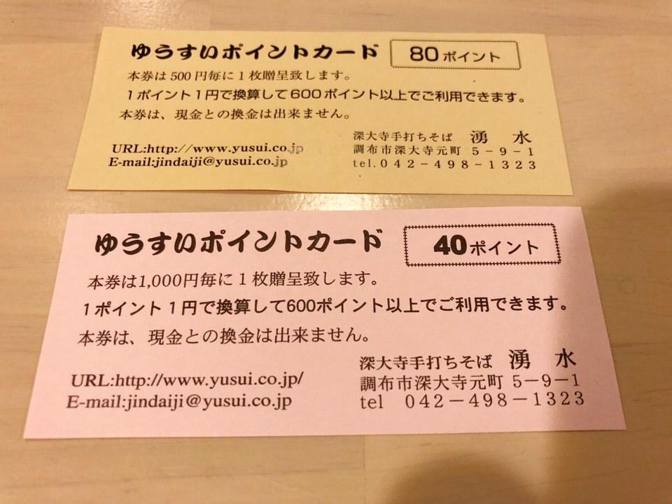 湧水のポイント割引チケット