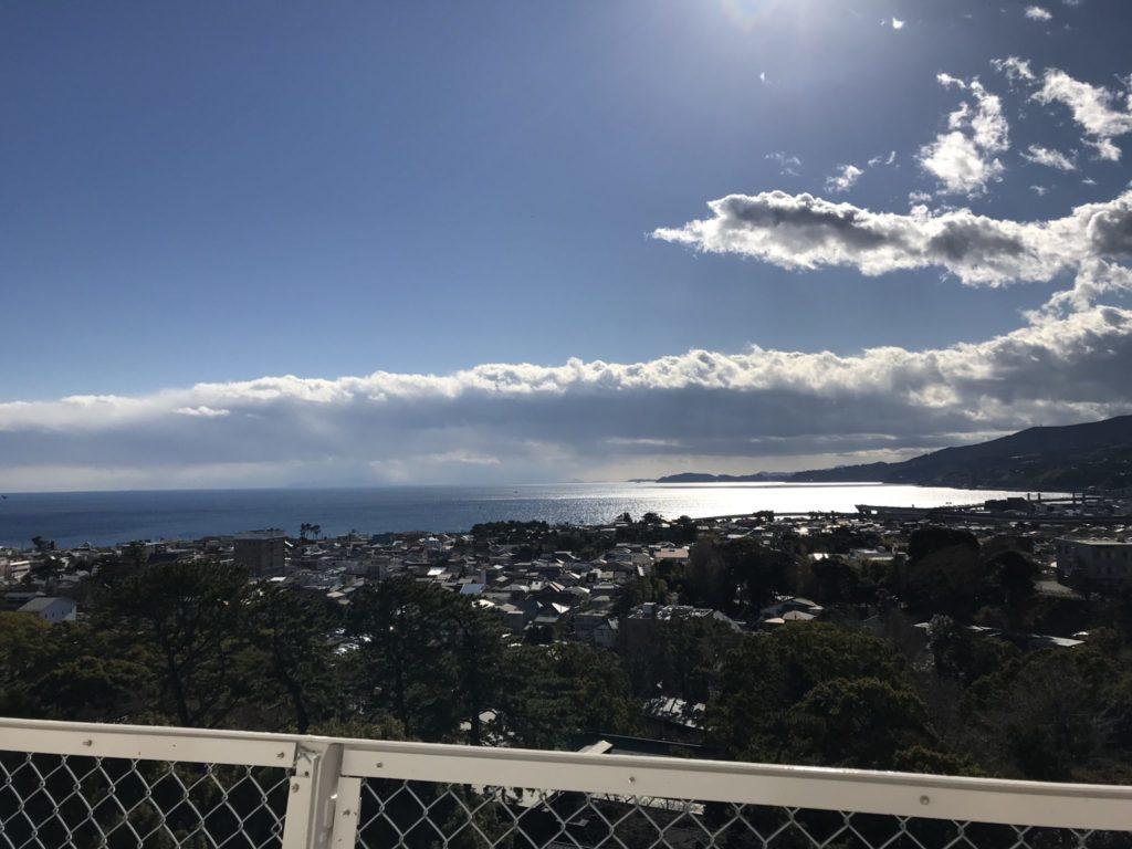 小田原城の上から眺める絶景