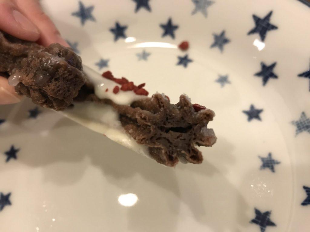 チュロショコラ ローズフレーバーの断面