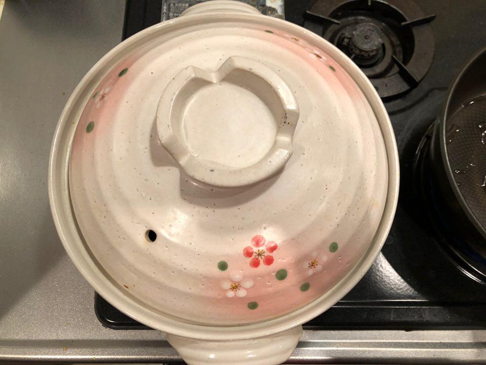 カレーを土鍋で煮る