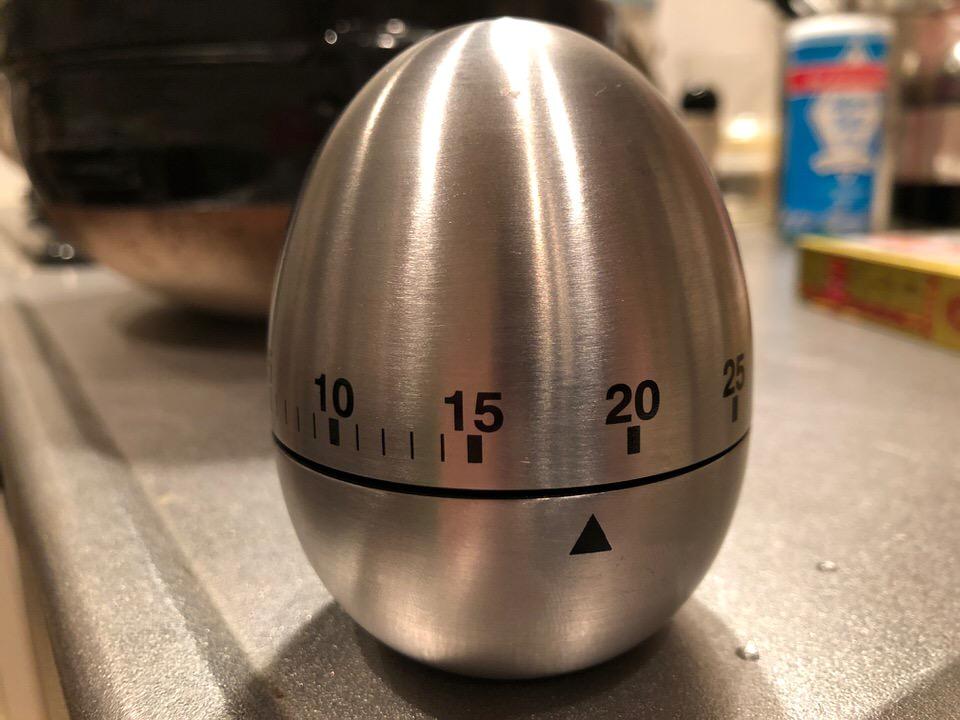 タイマーに使っている卵