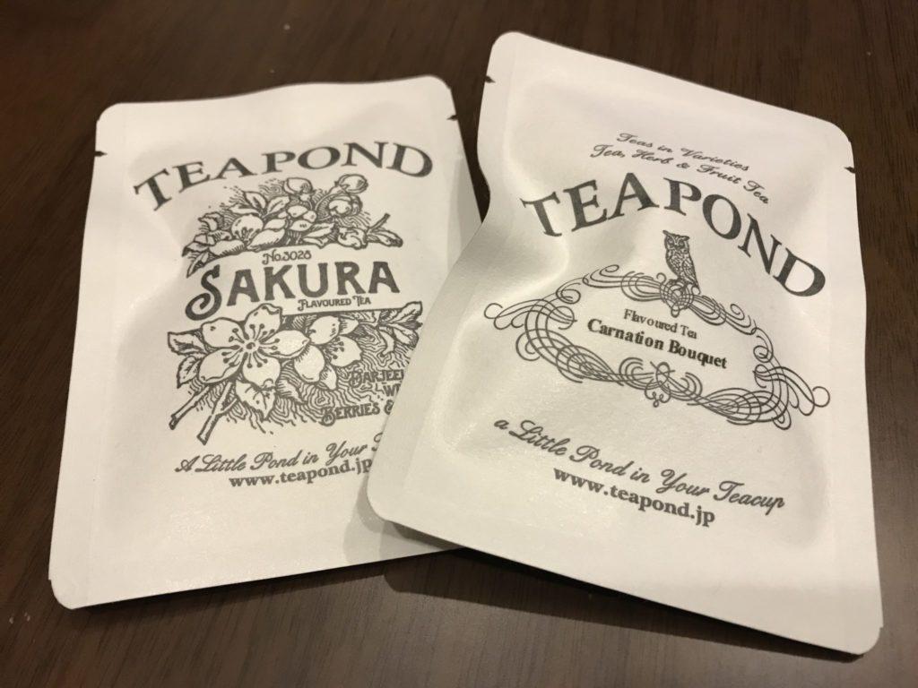 小袋の紅茶はお安くTEAPONDの雰囲気を楽しめる